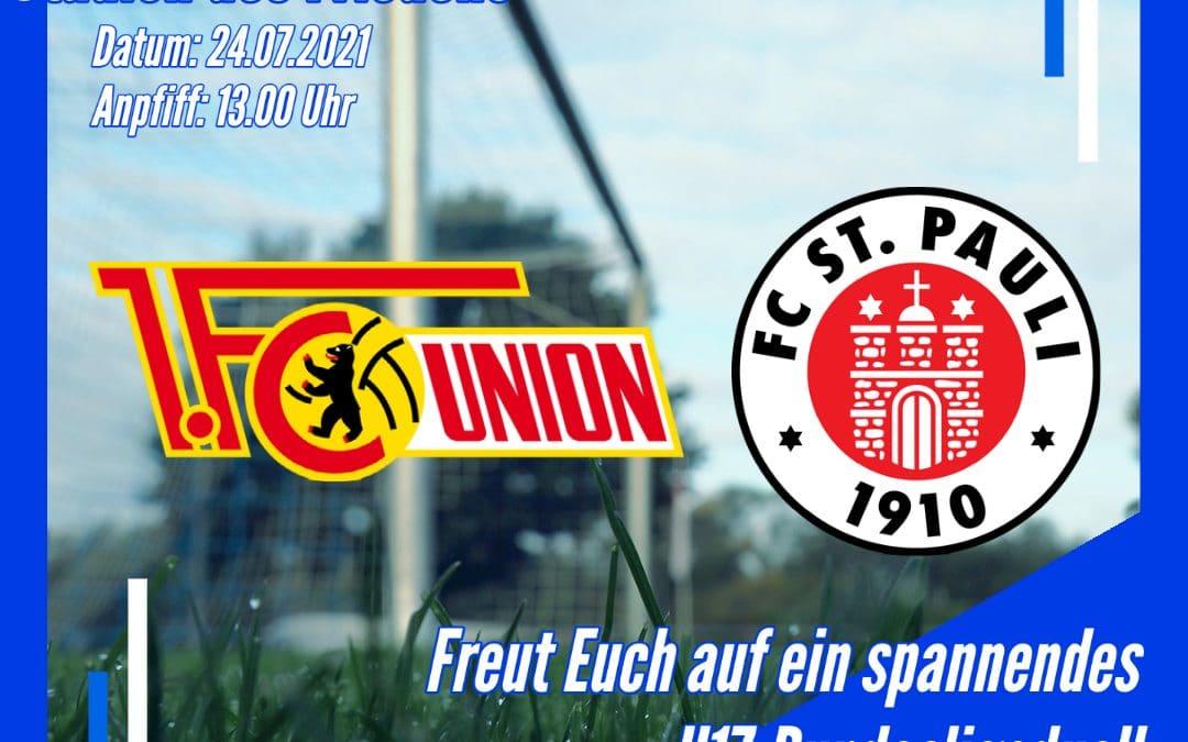 1. FC Union Berlin (U17) gegen FC St. Pauli (U17)